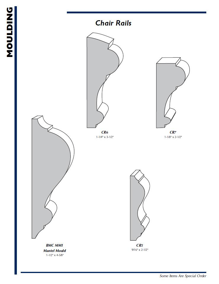Wood Chair Rail Profiles